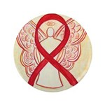 "Red Ribbon Angel 3.5"" Button"