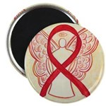Red Ribbon Angel Magnets