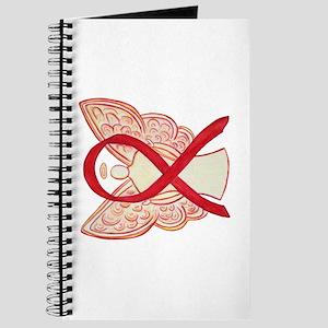 Red Ribbon Angel Journal