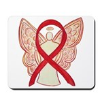 Red Ribbon Angel Mousepad