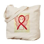 Red Ribbon Angel Tote Bag