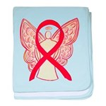 Red Ribbon Angel baby blanket