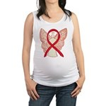 Red Ribbon Angel Maternity Tank Top
