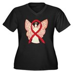 Red Ribbon Angel Plus Size T-Shirt