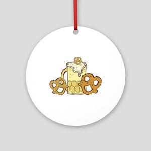 Beer & Pretzels Ornament (Round)