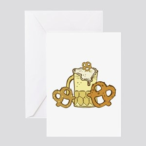Beer & Pretzels Greeting Cards