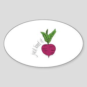 Just Beet It Sticker
