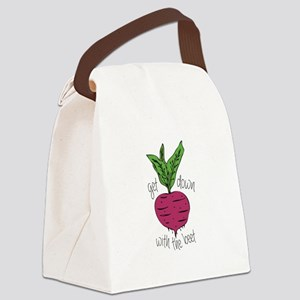 With The Beet Canvas Lunch Bag