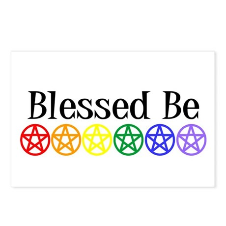 Rainbow Pentacles & Blessed Be Postcards (Package