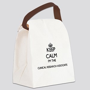 Keep calm I'm the Clinical Resear Canvas Lunch Bag