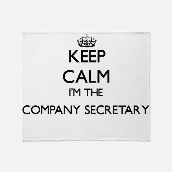 Keep calm I'm the Company Secretary Throw Blanket