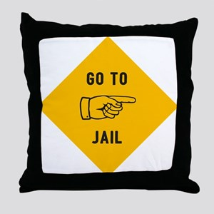 Go To Jail Throw Pillow