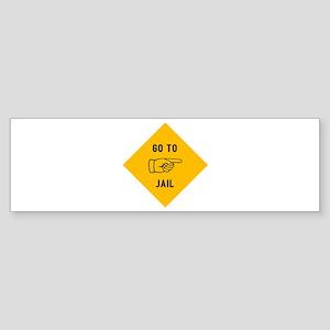 Go To Jail Sticker (Bumper)