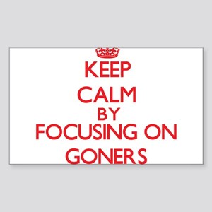 Keep Calm by focusing on Goners Sticker