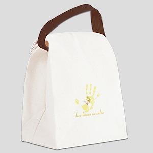 no color - for dark apparel Canvas Lunch Bag