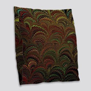 Bright Wild Rainbow Burlap Throw Pillow