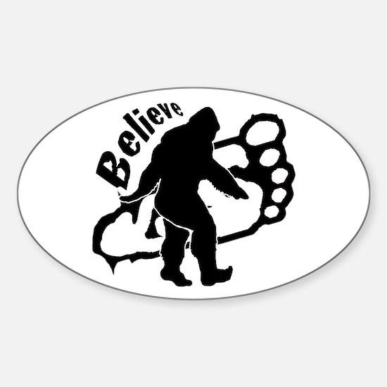 Bigfoot Believe Sticker (Oval)