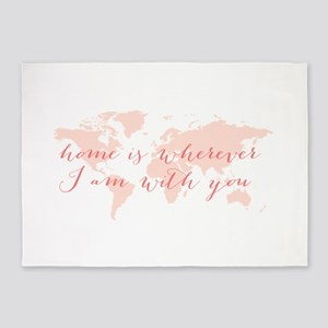 Home is wherever I am with you 5'x7'Area Rug