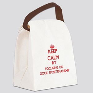 Keep Calm by focusing on Good Spo Canvas Lunch Bag