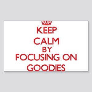 Keep Calm by focusing on Goodies Sticker