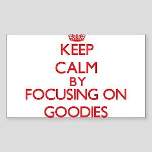 Keep Calm by focusing on Goodies Sticker