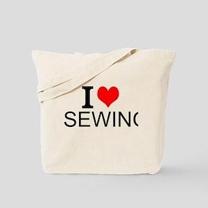 I Love Sewing Tote Bag