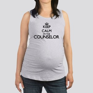 Keep calm I'm the Counselor Maternity Tank Top