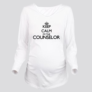 Keep calm I'm the Co Long Sleeve Maternity T-Shirt