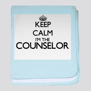 Keep calm I'm the Counselor baby blanket