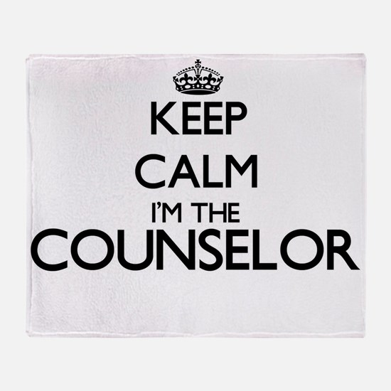 Keep calm I'm the Counselor Throw Blanket