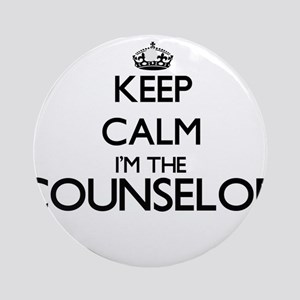 Keep calm I'm the Counselor Ornament (Round)