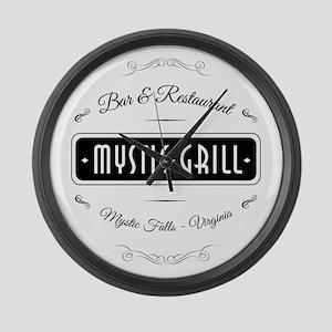 TVD - Mystic Grill black Large Wall Clock