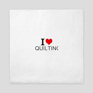 I Love Quilting Queen Duvet