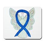 Blue Ribbon Angel Mousepad
