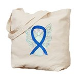 Blue Ribbon Angel Tote Bag