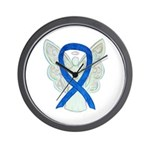 Blue Ribbon Angel Wall Clock