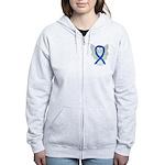Blue Ribbon Angel Zip Hoodie