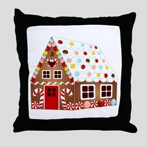 Gingerbread HOUSE Throw Pillow