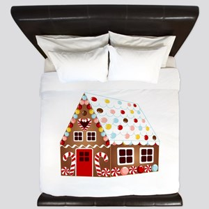 Gingerbread HOUSE King Duvet
