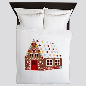 Gingerbread House Queen Duvet