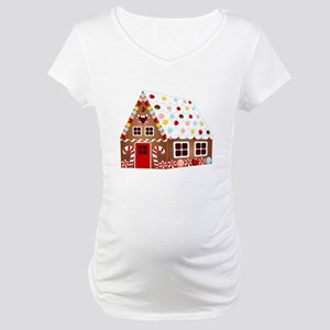 Gingerbread HOUSE Maternity T-Shirt