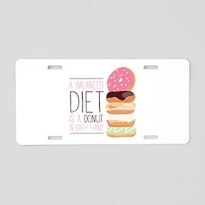 Balanced Diet Aluminum License Plate