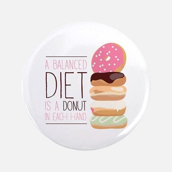 """Balanced Diet 3.5"""" Button"""