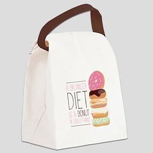 Balanced Diet Canvas Lunch Bag