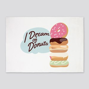 Dream Of Donuts 5'x7'Area Rug