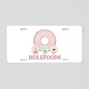Holefoods Aluminum License Plate