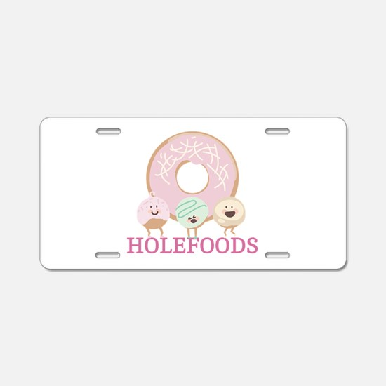 Holefoods Aluminum License Plate