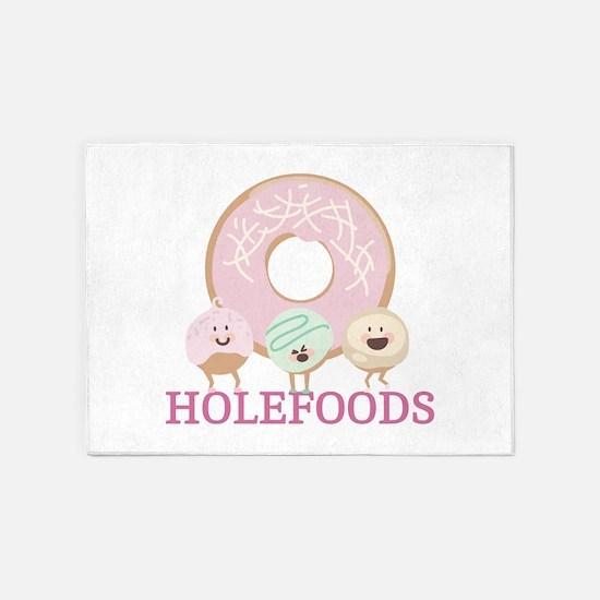 Holefoods 5'x7'Area Rug