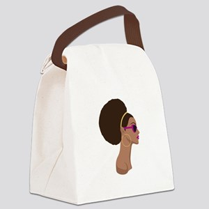 Afro Style Canvas Lunch Bag
