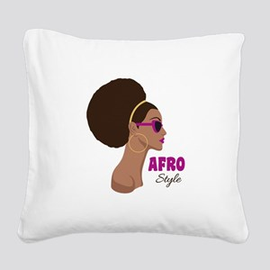 afro Style Square Canvas Pillow
